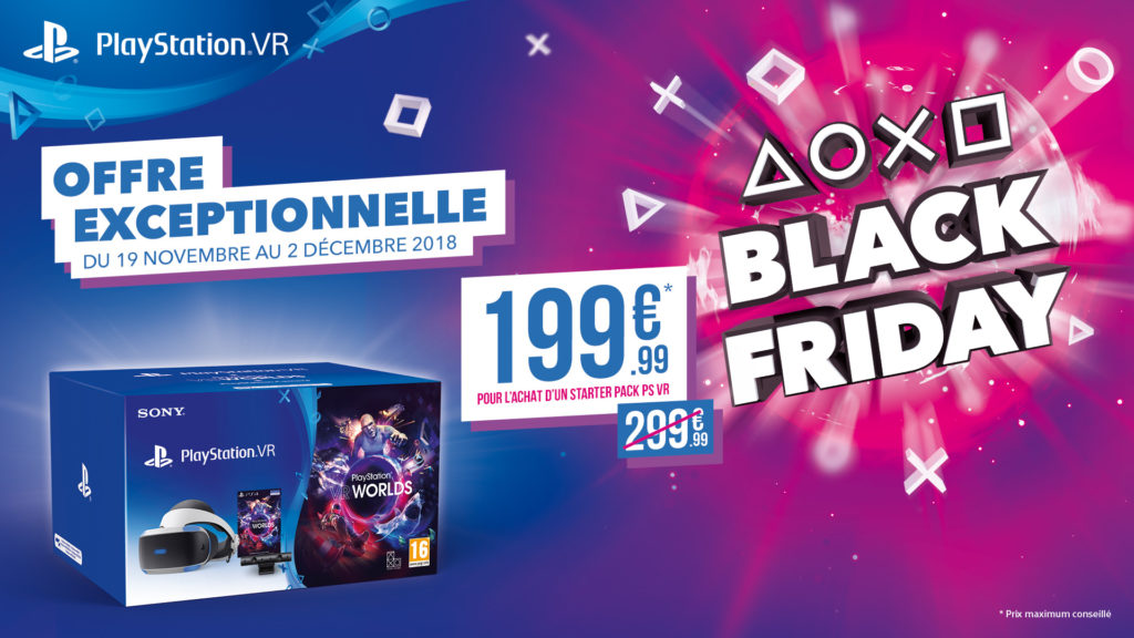 Black Friday 2018 PSVR Playstation VR sony PS4 lageekroom blog gaming