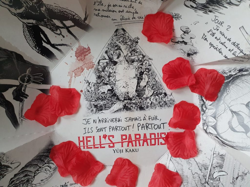 Avis Manga : Hell's Paradise, tome 1 + Unboxing du Press Kit blog gaming Kazé lageekroom