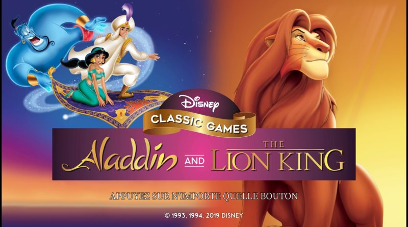 Disney Classic Games: Aladdin and The Lion King test avis blog jeux video gaming lageekroom